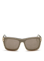 'Shield' cutout overlay sunglasses