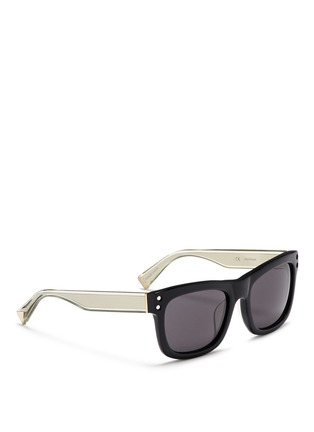 Haze - 'Shield' cutout overlay sunglasses