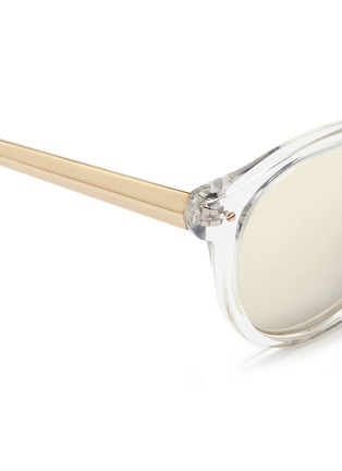 Detail View - Click To Enlarge - Haze - 'Edge' contrast temple mirror sunglasses