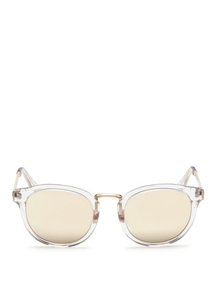 Main View - Click To Enlarge - Haze - 'Edge' contrast temple mirror sunglasses