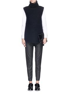 THEORY'Thorene' elastic waist wool pants
