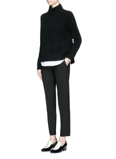 THEORY 'Linella' double faced bouclé turtleneck sweater