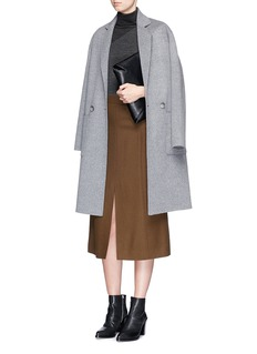 THEORY'Taj' contrast houndstooth turtleneck sweater