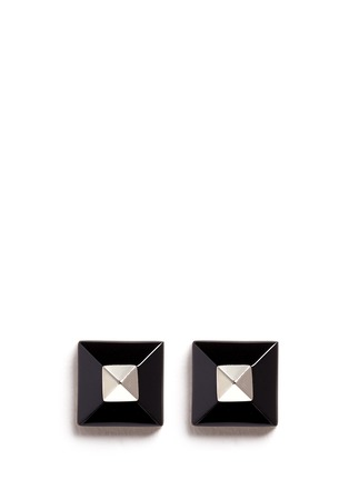 Main View - Click To Enlarge - Givenchy - Plexiglas pyramid stud earrings