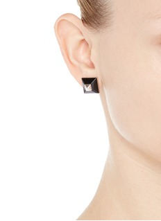 GIVENCHY Plexiglas pyramid stud earrings