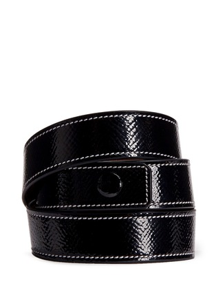 Back View - Click To Enlarge - Givenchy - 'Obsedia' triple wrap coated leather bracelet