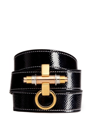 Main View - Click To Enlarge - Givenchy - 'Obsedia' triple wrap coated leather bracelet