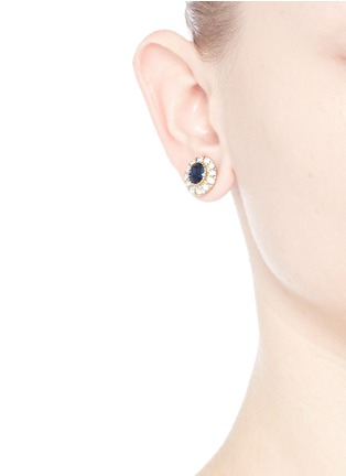 Givenchy - Swarovski crystal pavé magnetic earrings