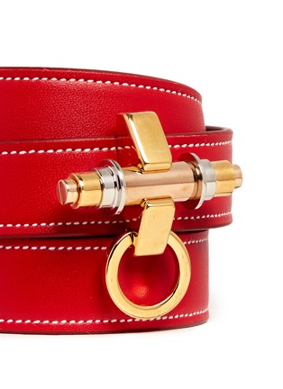Detail View - Click To Enlarge - Givenchy - 'Obsedia' triple wrap leather bracelet