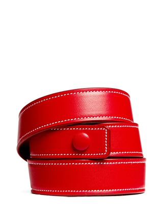 Back View - Click To Enlarge - Givenchy - 'Obsedia' triple wrap leather bracelet