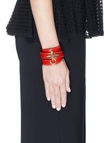 'Obsedia' triple wrap leather bracelet