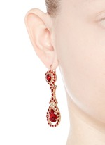 Oval Swarovski crystal drop earrings