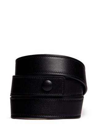 Back View - Click To Enlarge - Givenchy - 'Obsedia' stud triple wrap leather bracelet