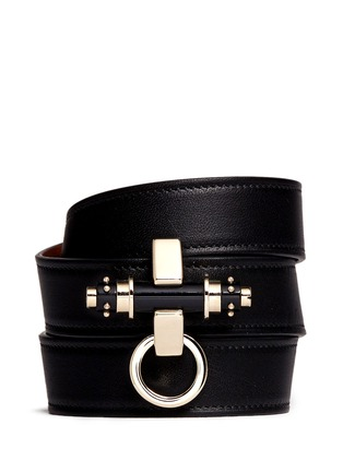 Main View - Click To Enlarge - Givenchy - 'Obsedia' stud triple wrap leather bracelet