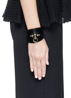 GIVENCHY 'Obsedia' stud triple wrap leather bracelet