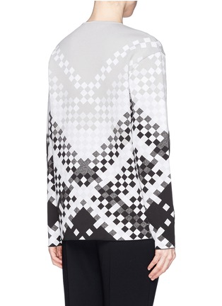 Back View - Click To Enlarge - Alexander Wang  - Woven pattern intarsia knit sweater