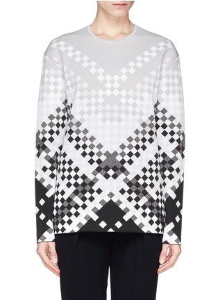 Main View - Click To Enlarge - Alexander Wang  - Woven pattern intarsia knit sweater