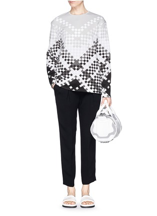 Figure View - Click To Enlarge - Alexander Wang  - Woven pattern intarsia knit sweater