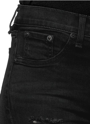 Detail View - Click To Enlarge - rag & bone/JEAN - 'High Rise' distressed skinny leggings