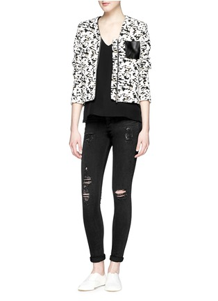 Figure View - Click To Enlarge - rag & bone/JEAN - 'High Rise' distressed skinny leggings