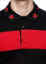 Contrast sleeve stripe polo shirt