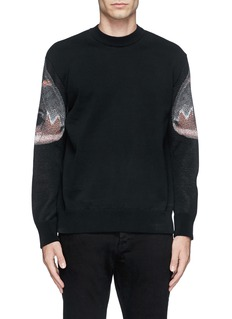 GIVENCHYMoth print cotton sweater