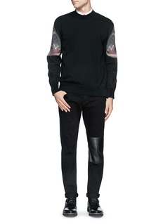 GIVENCHY Moth print cotton sweater