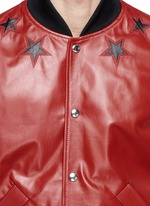 Star leather bomber jacket