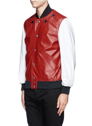 Front View - Click To Enlarge - Givenchy Beauty - Star leather bomber jacket