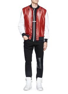 GIVENCHYStar leather bomber jacket