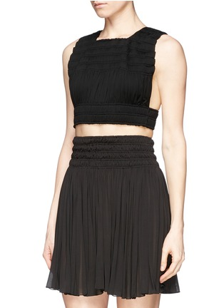 Front View - Click To Enlarge - Alaïa - Shirred cropped top