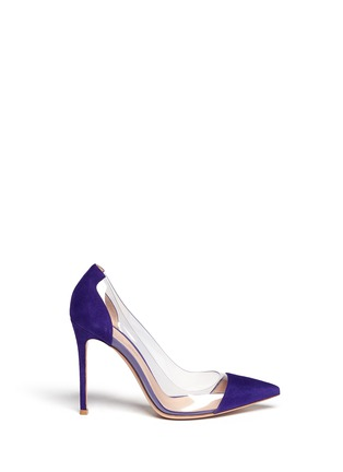 Main View - Click To Enlarge - Gianvito Rossi - Clear PVC suede pumps