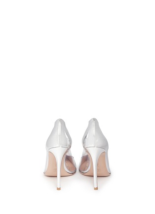 Back View - Click To Enlarge - Gianvito Rossi - Clear PVC metallic leather pumps