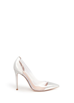 Main View - Click To Enlarge - Gianvito Rossi - Clear PVC metallic leather pumps