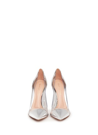 Figure View - Click To Enlarge - Gianvito Rossi - Clear PVC metallic leather pumps