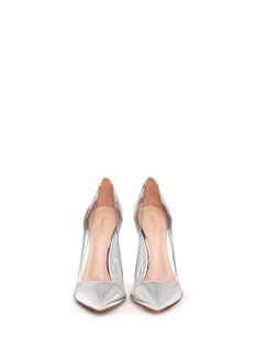 GIANVITO ROSSI Clear PVC metallic leather pumps
