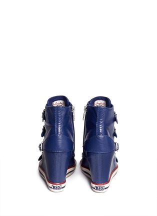 Back View - Click To Enlarge - Ash - United leather wedge sneakers
