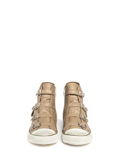 ASH Virgin buckled leather sneakers