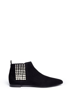 SERGIO ROSSIResin pearl suede ankle boots