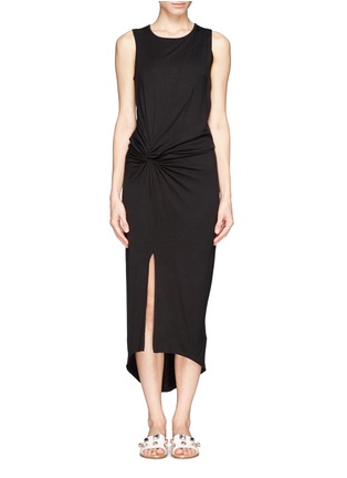 Main View - Click To Enlarge - Elizabeth and James - 'Marine' asymmetric drape dress