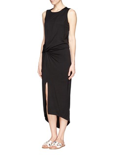 ELIZABETH AND JAMES 'Marine' asymmetric drape dress