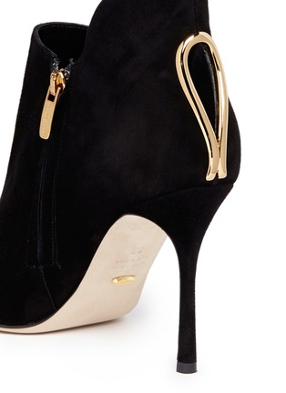 Detail View - Click To Enlarge - SERGIO ROSSI - 'Blink' keyhole suede booties