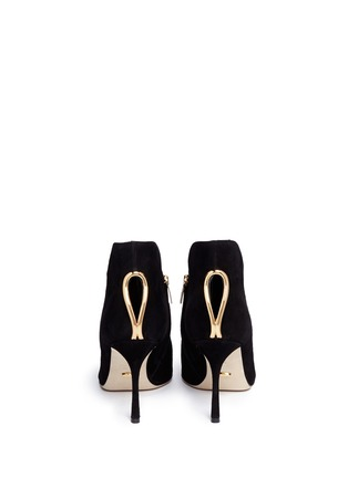 Back View - Click To Enlarge - SERGIO ROSSI - 'Blink' keyhole suede booties