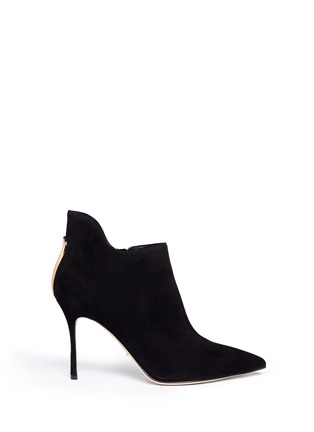Main View - Click To Enlarge - SERGIO ROSSI - 'Blink' keyhole suede booties