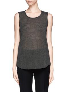THEORYBringa eyelet knit tank top