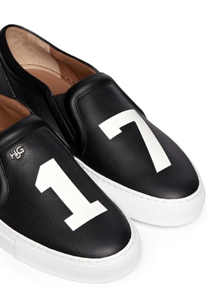 Detail View - Click To Enlarge - Givenchy - 'Pervert 17' print leather skate slip-ons
