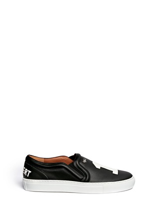 Main View - Click To Enlarge - Givenchy - 'Pervert 17' print leather skate slip-ons