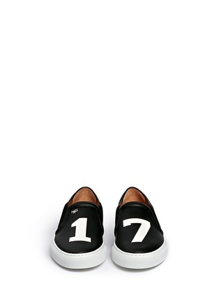 Figure View - Click To Enlarge - Givenchy - 'Pervert 17' print leather skate slip-ons