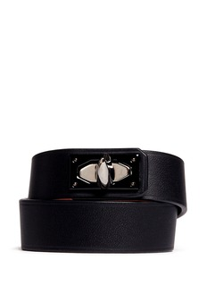 GIVENCHY Shark fin duo strap leather bracelet