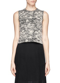 THEORY 'Breeta' pixel knit sleeveless top
